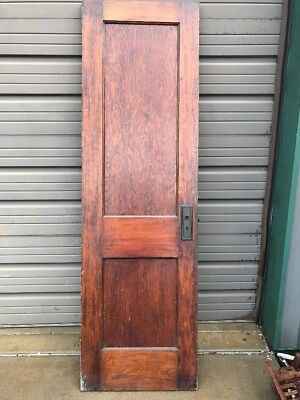 AN 450 antique two panel pine passage door 24 x 79 1/2 x 1 and three eights