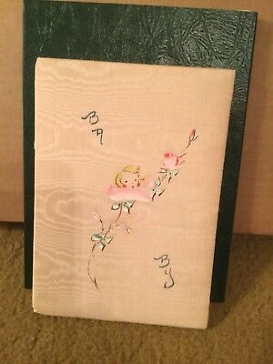 Vintage 30's Cloth Covered Baby Diary