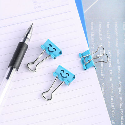 40Pcs 19mm Smile Metal Binder Clips For Home Office File Paper Organizer XH