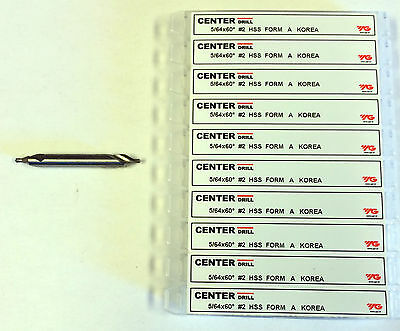 YG-1 #2 HSS Center Drills (10pcs.)