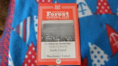 64/65 Leeds United V Manchester United Fa Cup Semi Final Replay At Forest