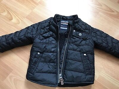 Lovely Next boy jacket black 9-12 months