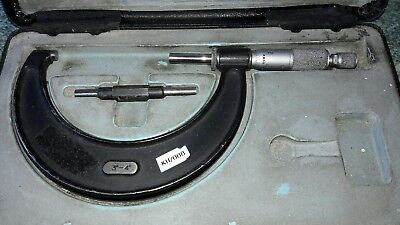 "MOORE & WRIGHT 3 - 4"" OUTSIDE MICROMETER No 966  IN CASE"