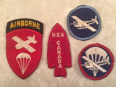 Original Ww 2 Patches, 3 Airborne And 1 Fssf Special Forces  Patches