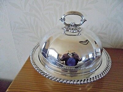 Beautiful Elkington Silver Plated Muffin Dish