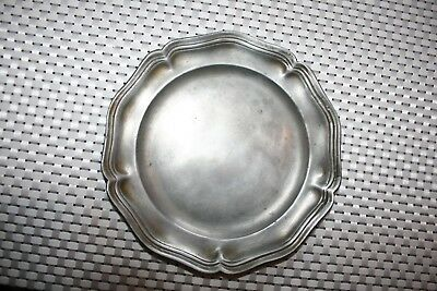 Antique 18C Pewter Charger, Plate. Touchmarks. Combine Postage