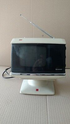 SHARP 5P-12G SOLID STATE PORTABLE CUBE TV Space Age JPN 70s Rare Vintage