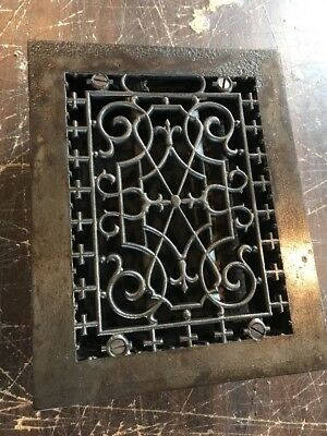 T9 Antique Cast-Iron Heating Grated 7 5/8 By 9 5/8