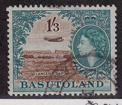 BASUTOLAND Used Scott # 53 Queen Elizabeth II & Lancers Gap (1 Stamp) -4