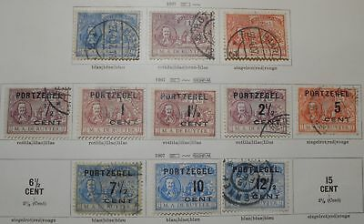 Netherlands 1907 group of stamps, official & regular issue, MH/used