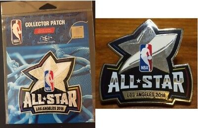 2018 Nba All Star Game Pin & Collector Patch Los Angeles Lebron Curry Paul
