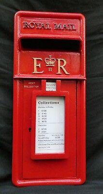 Royal Mail. Genuine. Cast Iron. Post Box Front. Machan. Red. Post Office.