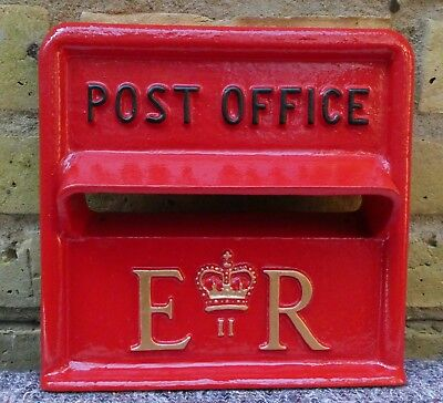Post Office. Genuine. Cast Iron. Post Box Front Aperture. Red. Royal Mail.
