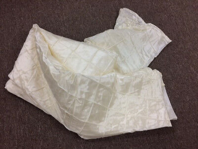 """New and Used 120"""" Round Ivory Table Cloths"""