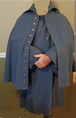 Men's Civil war era greatcoat size 48 reproduction