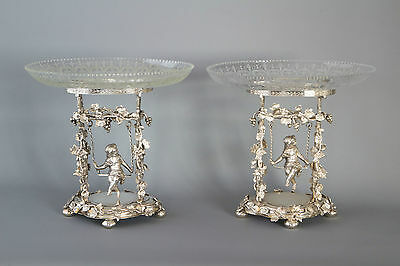 A Magnificent Pair of Victorian Silver Epergnes/Centrepieces Birmingham 1881.