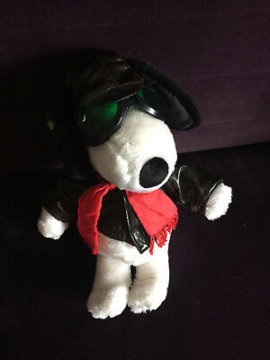 1966 Snoopy World War Flying Ace Red Baron Pilot Plush United Feature Syndicate