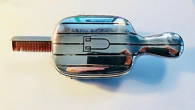 Art Deco Sterling Mens Hair Brush with Built Comb! pat. 1928