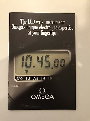 Omega Quartz LCD Booklet Manual Instructions