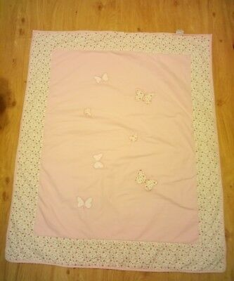 Laura Ashley Bella Butterfly Cot Bed Blanket
