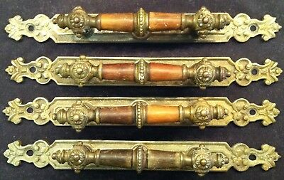 Brass rosewood pulls handles vintage great price Gorgeous seeText photos