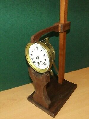Clock movement test stand based on French model handmade from reclaimed hardwood
