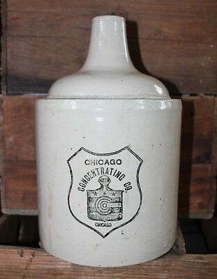 1 Gallon Red Wing Chicago Concentrating Advertising Stoneware Jug Bottom Signed!