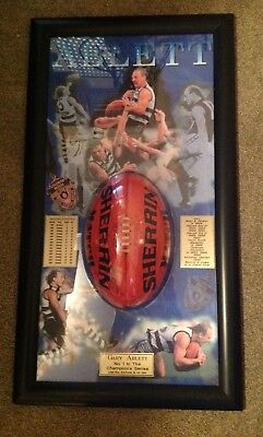 """Gary Ablett Snr """"ballistic"""" SIGNED and Numbered Display"""