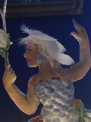 Antique Mermaid Siren Old Lamp Finial - Oyster Bay Studio -New Old Stock