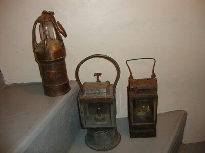 lot de 3 grandes lanternes anciennes de collection
