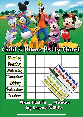 Childrens Toilet Trainer Potty Training Reward Chart - Mickey Mouse