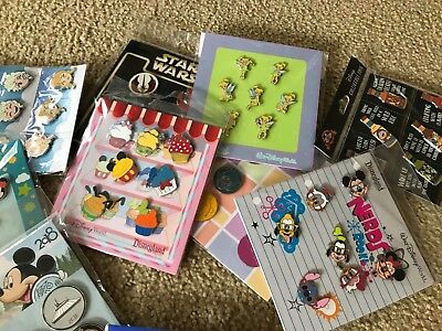 Disney Trading Pins Lot of 100 Pin New Booster Packs Sealed Unopened Sets