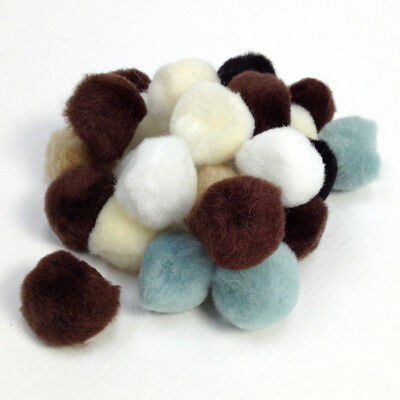 Pom Poms -  Assorted colours 25mm Arbee Brand - Pack of 30