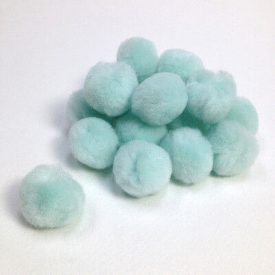 Pom Poms - Glow in the Dark 25mm Arbee Brand - Pack of 18