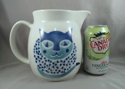 "6.25"" Arabia Finland HELUNA Cheshire Cat Op Pop Art Porcelain Pitcher Kaj Franck"