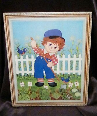 """Vintage 1972 Raggedy Andy Wall Art 16"""" x 22"""""""