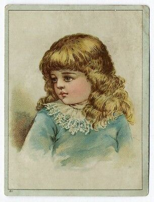 Frances Brundage AMERICAN IMPORTING TEA Victorian Trade Card 1880's Little Girl