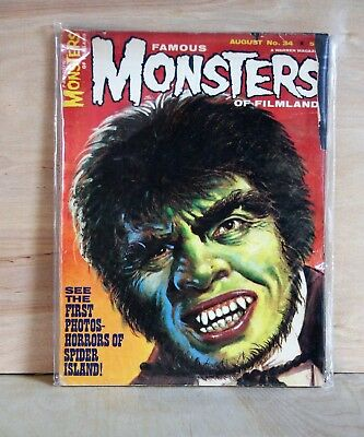 1965 Forest Ackerman FAMOUS MONSTERS OF FILMLAND Dr. Jekyll Issue #34 decent