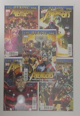 Avengers the Heroic Age 1-5 Complete Set Marvel Comics