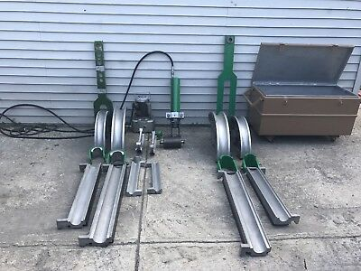 GREENLEE 881 And 885TE HYDRAULIC PIPE BENDER W/ PUMP 2 1/2 to 3  EMT IMC RIGID