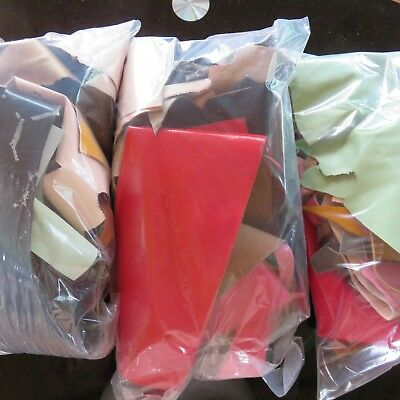 Leather Pieces 480 gram Mixed bag of real leather off cuts,  Craft , millinery