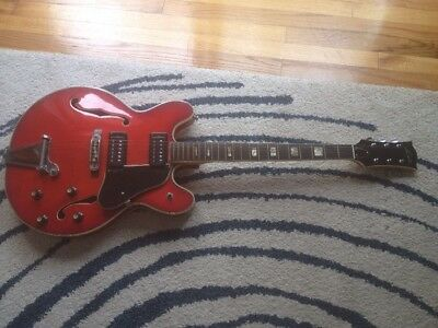 Vintage Lyle 5102t Hollow Body Electric Guitar
