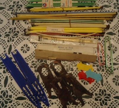Vintage Lot of Knitting Needles- Various Sizes Brands & Accessories New & Used