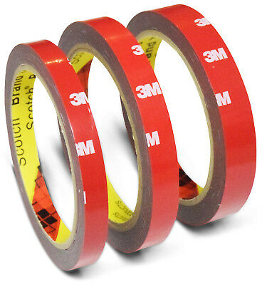 3M 4229P VHB Tape 3m x 10mm+12mm+15mm Adhesive Foam Double-sided Automotive