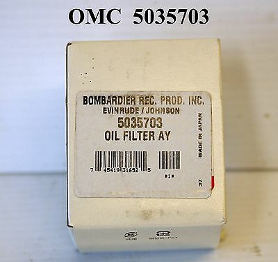 Omc Outboard 4 Stroke Oil Filter Part# 5035703