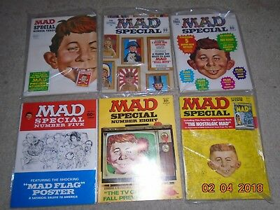 Mad Super Specials 1-10 Nm With Inserts Unfolded Back Pages Beautiful Set