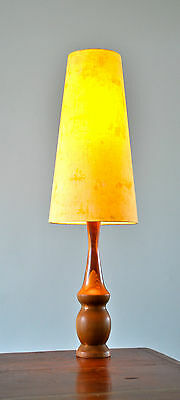 RETRO MID CENTURY teak DANISH 'PROP' table LAMP with new bespoke shade