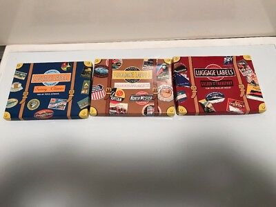Vintage Look Travel Stickers Luggage Labels Lot