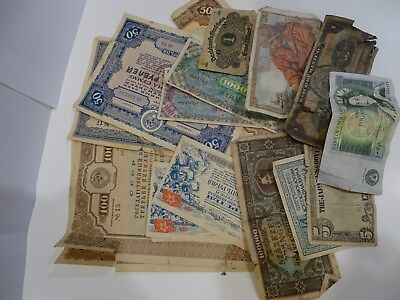 Old World Paper Money Currency Collection of Assorted Notes