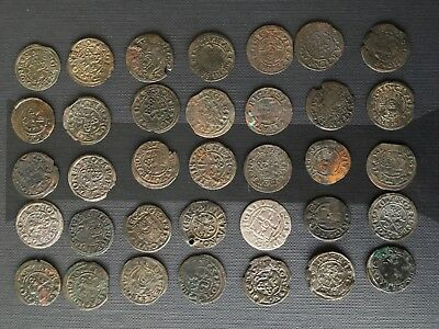 Latvia - Medieval Livonia - Old ancient antique coins lot 35 pcs